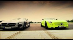 Petrol vs Electric - Mercedes SLS AMG Battle