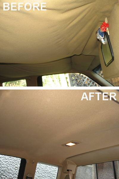 How to fix car interior roof fabric Car interior ceiling fabric repair
