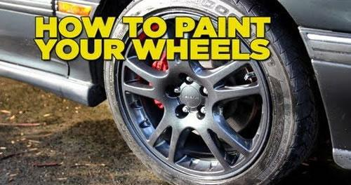 Diy how to paint your wheels car maintenance for Diy rim painting