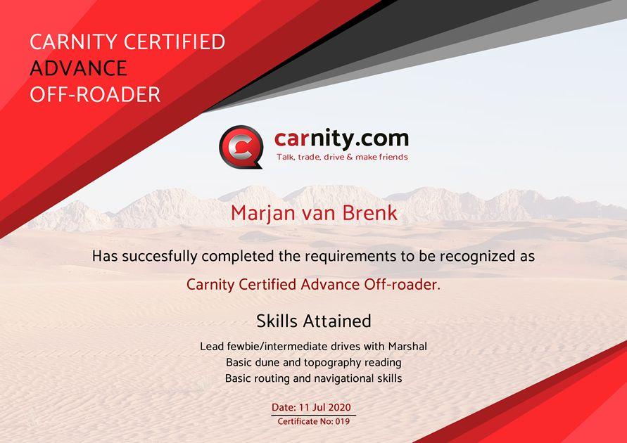 Marjan Med - Advance Carnity Offroad Certification.jpg